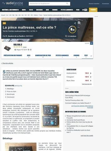 Audiofanzine.com SSL SSL 2