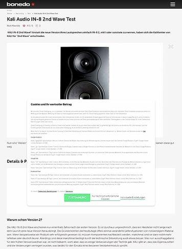 Bonedo.de Kali Audio IN-8 2nd Wave
