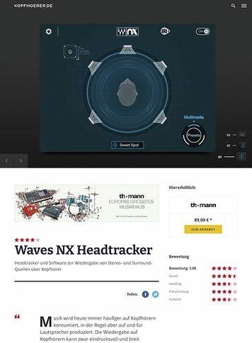 Kopfhoerer.de Waves Nx Head Tracker for Headphones