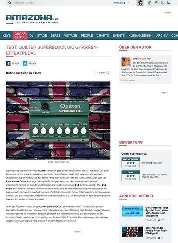 Amazona.de Quilter Superblock UK