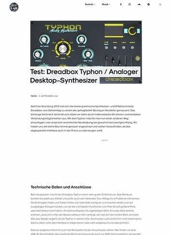 DJLAB Dreadbox Typhon