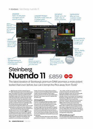 Computer Music Steinberg Nuendo 11