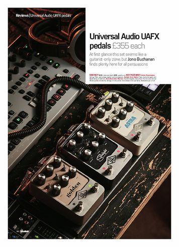 Future Music Universal Audio UAFX pedals