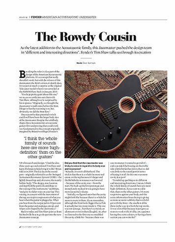 Guitarist Fender American Acoustasonic Jazzmaster