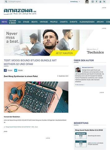 Amazona.de Moog Sound Studio Bundle mit Mother-32 und DFAM