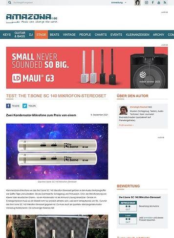 Amazona.de the t.bone SC 140 Mikrofon-Stereoset