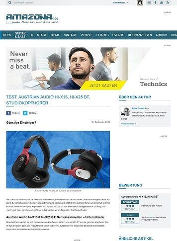 Amazona.de Austrian Audio Hi-X15, Hi-X25 BT
