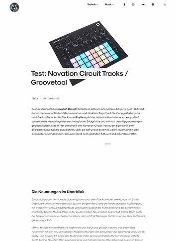 DJLAB Novation Circuit Tracks
