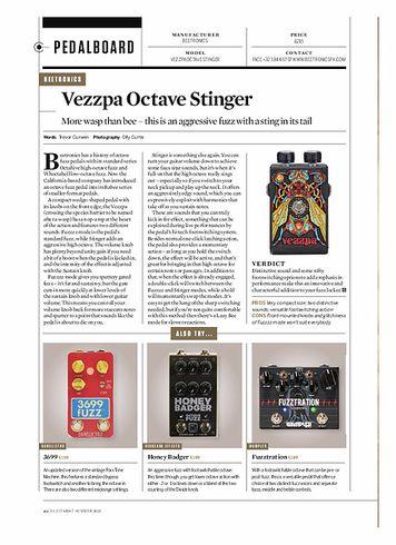 Guitarist Vezzpa Octave Stinger