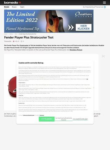 Bonedo.de Fender Player Plus Stratocaster