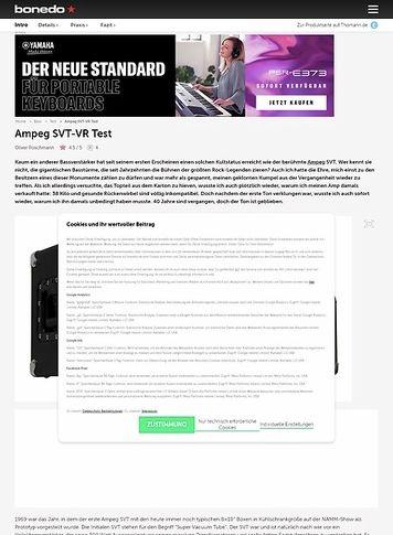 Bonedo.de Ampeg SVT VR