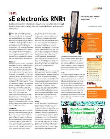 Beat Test: sE electronics RNR1
