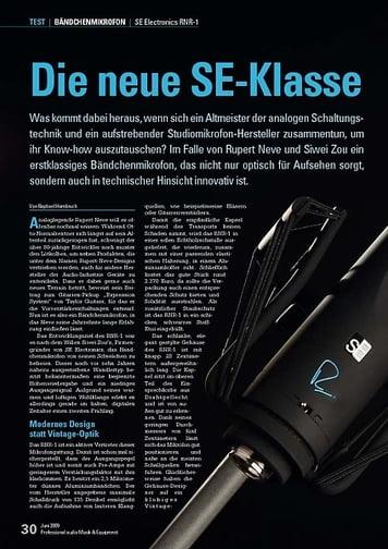 Professional Audio Die neue SE-Klasse: SE Electronics RNR-1