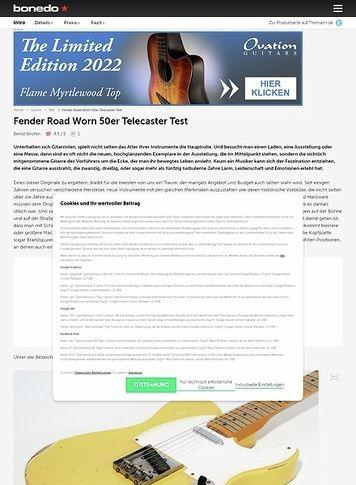 Bonedo.de Fender Road Worn 50er Tele