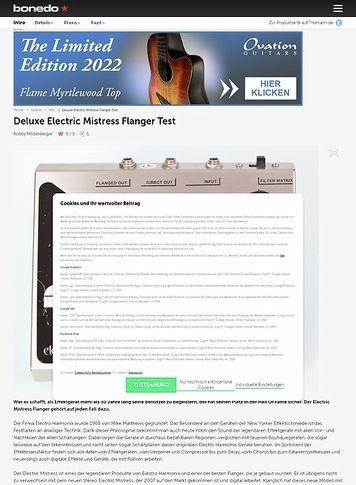 Bonedo.de Deluxe Electric Mistress Flanger