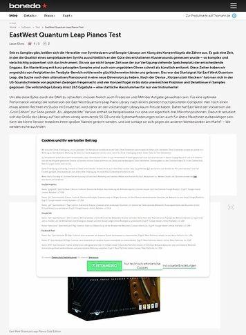 Bonedo.de East West Quantum Leap Pianos Gold Edition