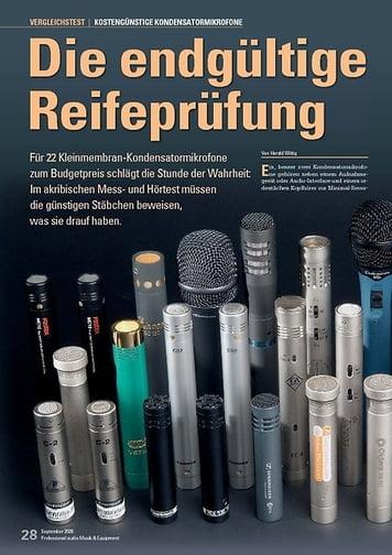 Professional Audio Die endgültige Reifeprüfung: Günstige Kondensatormikrofone