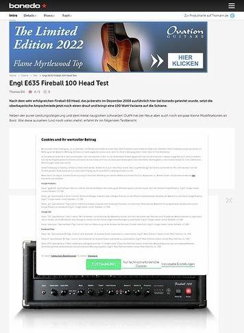 Bonedo.de Engl E635 Fireball 100 Head