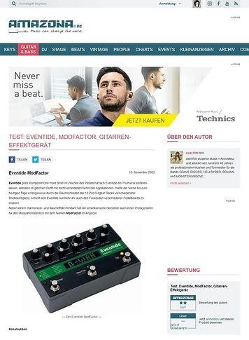 Amazona.de Test: Eventide, ModFactor, Gitarren-Effektgerät