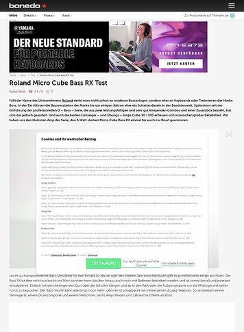 Bonedo.de Roland Micro Cube Bass RX