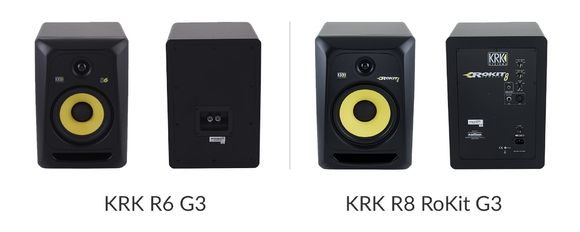 KRK R6 G3 (Passiv) - KRK R8 RoKit G3 (Aktiv)