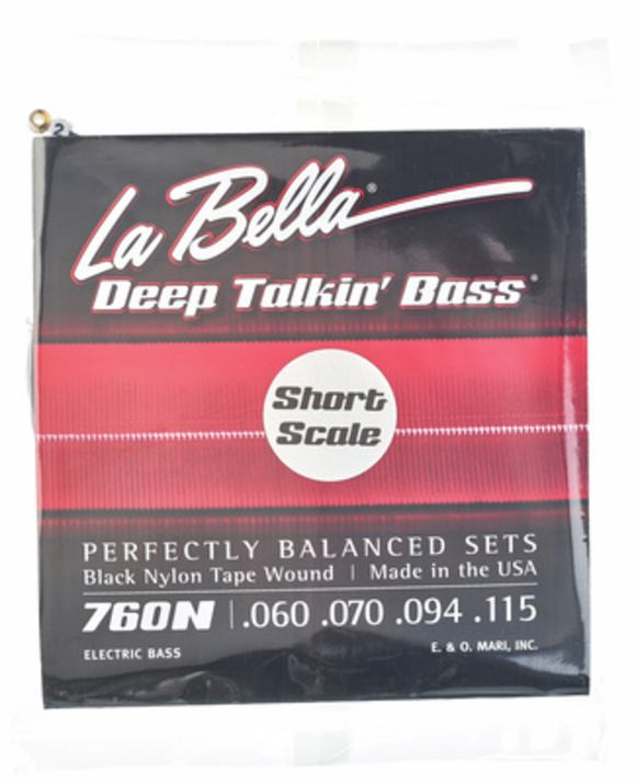 760N-S Black Nylon Tape La Bella