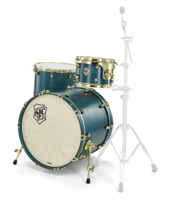 Tour 3pc shell set blue/brass SJC Drums