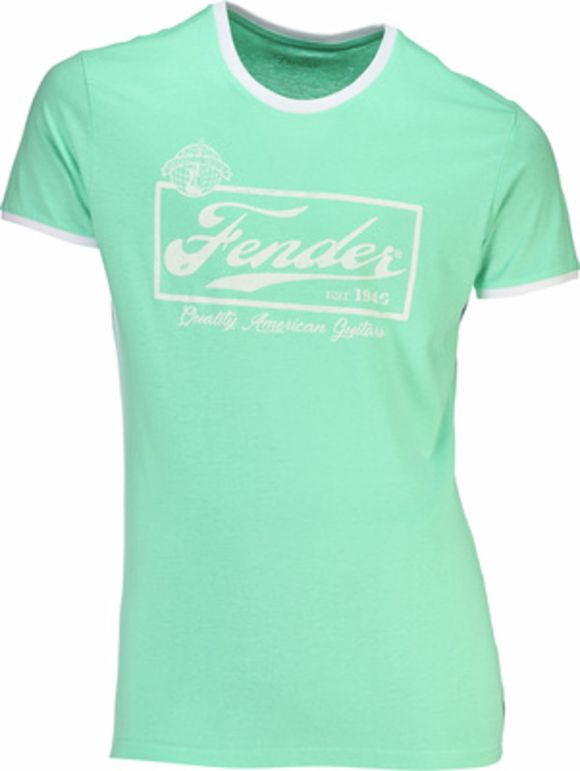 T-Shirt Ringer Mint Green L Fender
