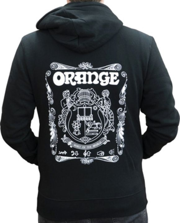 Hoody Logo Black XL Orange