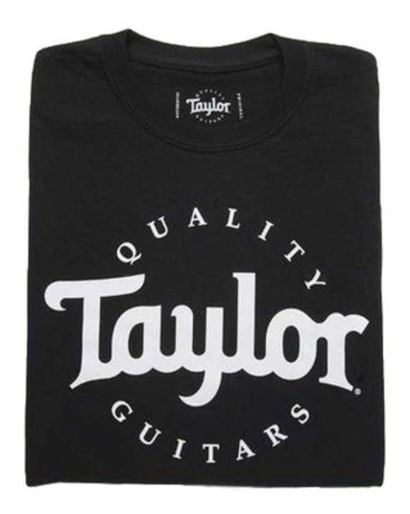 Basic Black Aged Logo Tshirt M Taylor