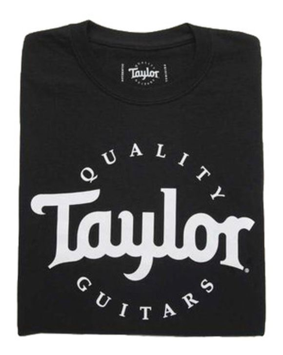 Basic Black Aged Logo Tshirt L Taylor