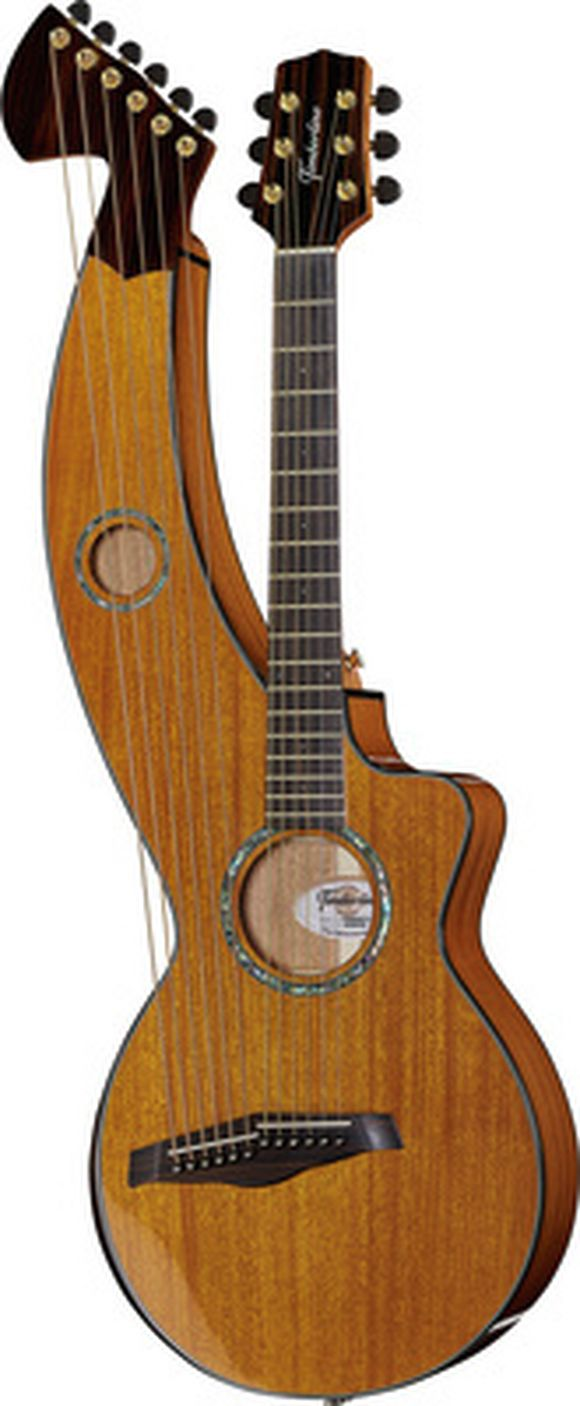T30HGpc-e Harp Guitar Timberline Guitars