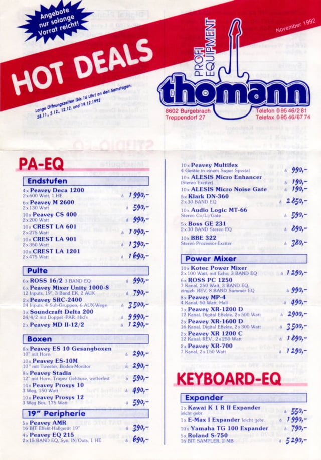 Geboorte van de Hot Deals