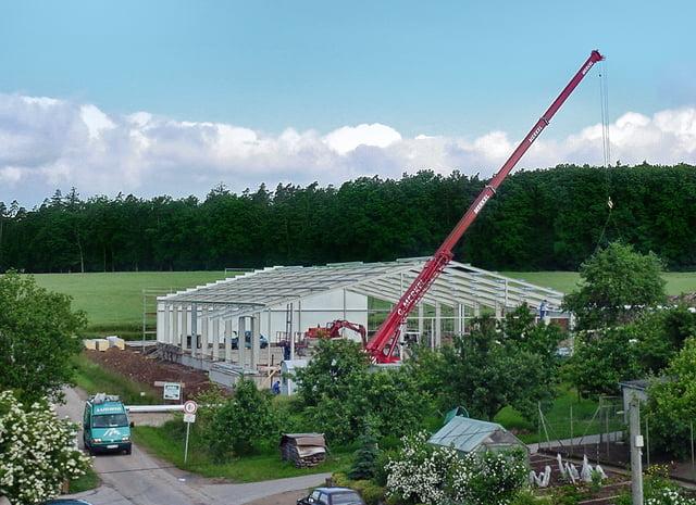 Stavba nového logistického centra
