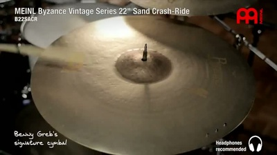 Meinl 22 Zoll Byzance Sand Crash/Ride