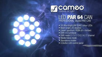 Cameo Studio PAR64 RGBA 18x8W