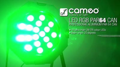 Cameo PAR 64 18x 3W - TRI Color Led Spot
