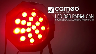 Cameo PAR 64 18x 3W - TRI Color Led Spot