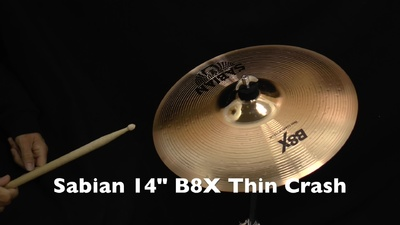 Sabian 14 B8X Thin Crash