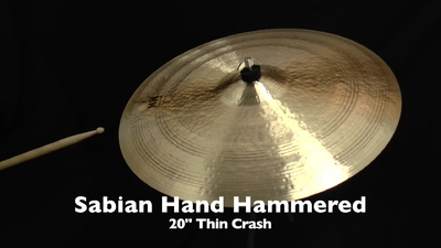 Sabian 20 HH Hand Hammered Thin Crash