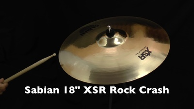 Sabian 18 XSR Rock Crash Becken