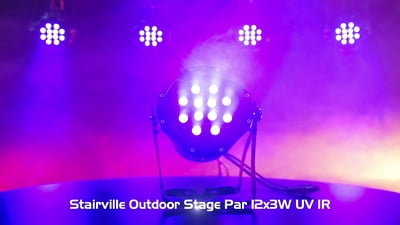 Stairville Outdoor Stage Par 12x3W UV IR
