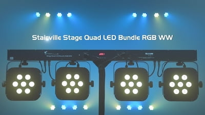 Stairville Stage Quad LED Bundle RGB
