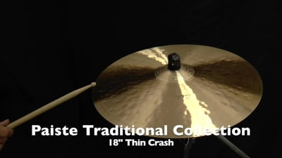 Paiste Traditional Collection 18 Thin Crash