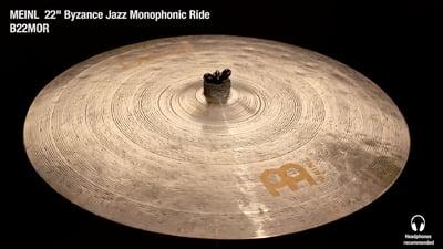 Meinl Byzance Serie 22 Jazz Monophonic Ride