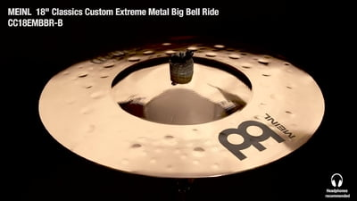 Meinl 18 Classics Custom Extreme Metal Big Bell Ride