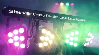 Stairville Crazy Par Bundle 4 8x5W RGBWAP HEX Colour