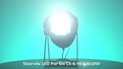Stairville LED Par 64 CX-6 Tourpack 4 B