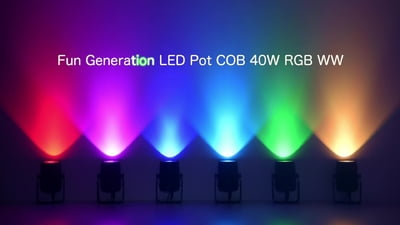 Fun Generation LED Pot COB 40W RGB WW