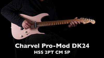 Charvel Pro-Mod DK24 HSS 2PT CM Shell Pink
